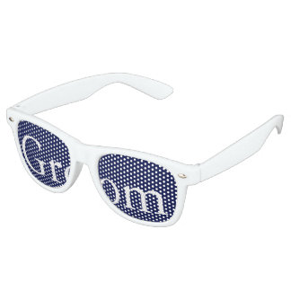 Classic Dark Navy Blue Wedding Retro Sunglasses
