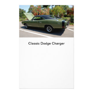 classic dodge charger flyer design