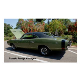 classic dodge charger posters