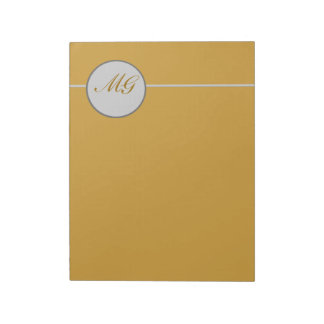 Classic Elegant Monogramed Lettering Notepad