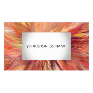 Classic Elegant Orange Red Pattern Business Card