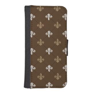 Classic Fashion Fleur-de-lis Pattern iPhone SE/5/5s Wallet Case