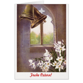 Classic formal Frohe Ostern (German) Note Card