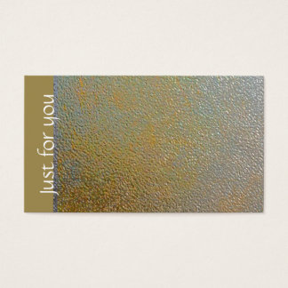 Classic Gold Silver Shiny Stamped Metal Effect Business Card
