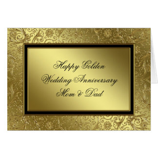 Classic Golden Wedding Anniversary Card