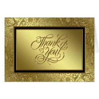 Classic Golden Wedding Anniversary Thank You Card