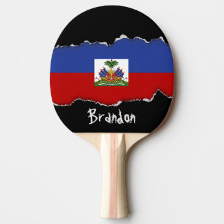 Classic Haitian Flag Ping Pong Paddle