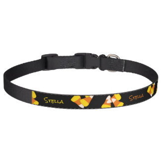 Classic Halloween candy corn Pet Collars