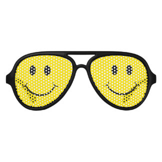 Classic Happy Face Aviator Sunglasses