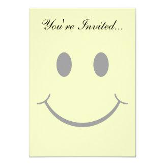 """Classic Happy Face 5"""" X 7"""" Invitation Card"""