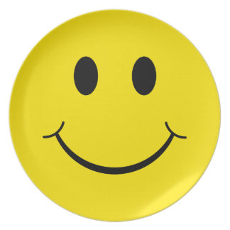 Classic Happy Face Party Plate