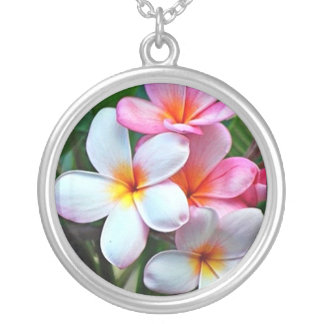 Classic Hawaiian Prints Silver Plated Necklace
