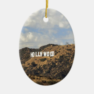 Classic Hollywood Sign Christmas Ornament