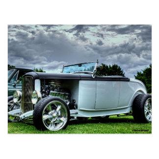 Classic Hotrod Car Postcard
