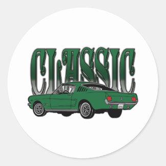 Classic Hotrod Gifts Round Sticker