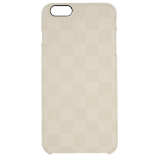 Classic Ivory -Checkers- Custom Clear iPhone 6 Plus Case