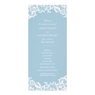 Classic Lace Wedding Program Rack Card