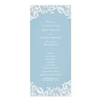 Classic Lace Wedding Program Rack Cards