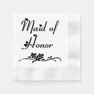 Classic Maid Of Honor Disposable Napkins