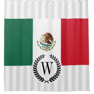 Classic Mexican Flag Shower Curtain
