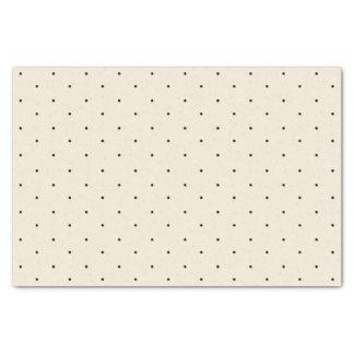 Classic Mini Black Polka Dots Pattern Tissue Paper