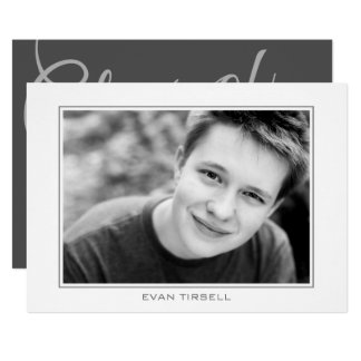 Classic Modern Photo Frame Graduation Party Card