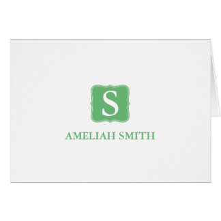 Classic Monogram Personal-Business Notecards Card