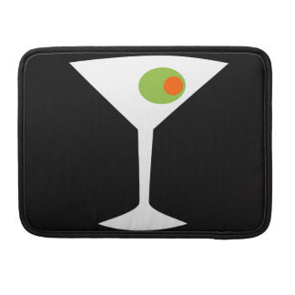 Classic Movie Martini MacBook Pro Sleeve black