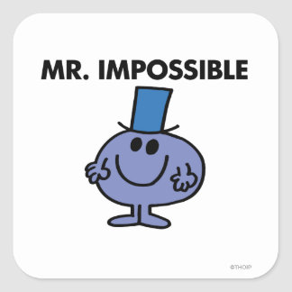 Classic Mr. Impossible Square Sticker