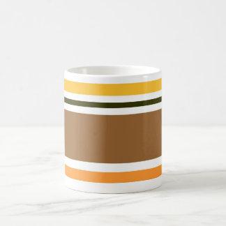 Classic Orange Black Brown Pattern Stripes Mug