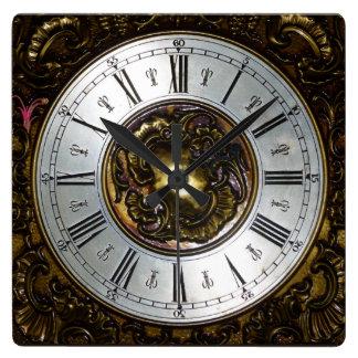 CLASSIC | Ornamental roman numerals image Square Wall Clock