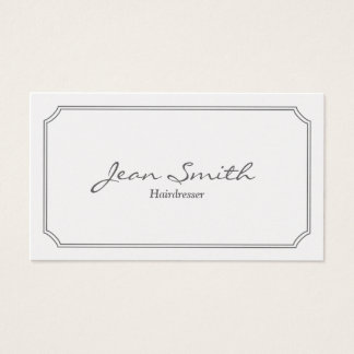 Classic Pearl White Hairdresser Business Card
