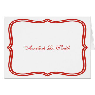 Classic Personal or Business Notecards Note Card