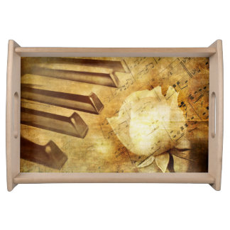 Classic Piano Melody Serving Tray