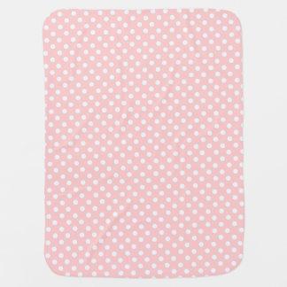 classic pink polka buggy blanket