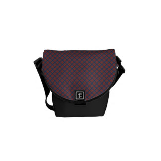 Classic Quatrefoil Brick Red and Blue Courier Bags