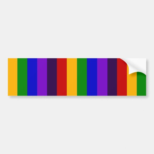 Classic Rainbow Vertical Stripes Colorful Gifts Bumper Stickers