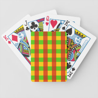 Classic Rasta Gingham Pattern Poker Deck