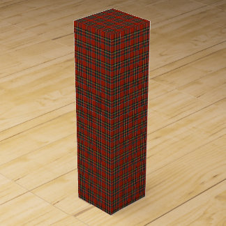 Classic Red and Blue Royal Stewart Tartan Wine Gift Box