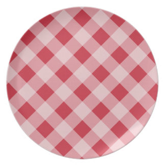Classic Red Gingham Plate