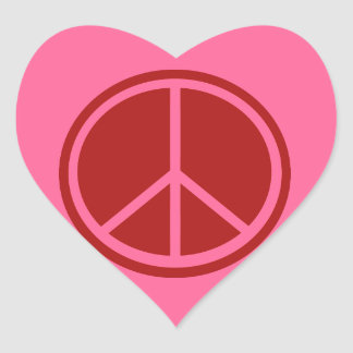 Classic Red Peace Sign Stickers