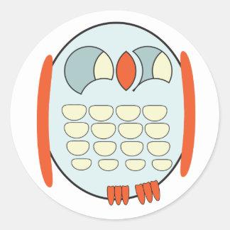 Classic Round Sticker- BABY OWL Round Sticker