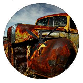 Classic Rust Large Clock
