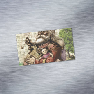 Classic Santa Illustration Magnetic Business Card