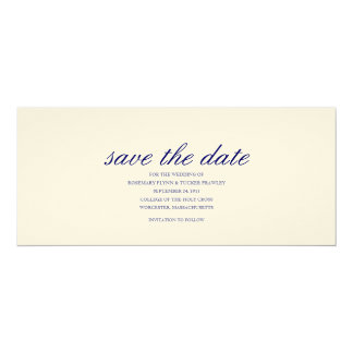 CLASSIC SAVE THE DATE 10 CM X 24 CM INVITATION CARD