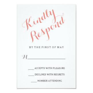 Classic Script   Elegant Wedding RSVP Card 9 Cm X 13 Cm Invitation Card