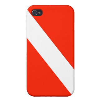Classic Scuba Diving Dive Flag iPhone 4/4S Cover