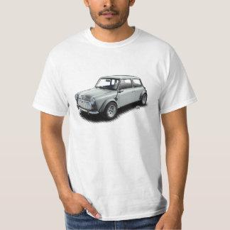 Classic Silver 1969 Mini Car on White T-Shirt
