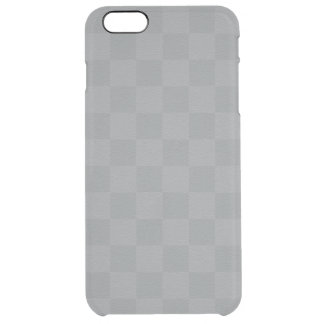 Classic Silver -Checkers- Custom Clear iPhone 6 Plus Case
