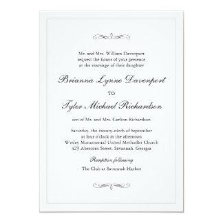 Classic Simple Elegance Wedding Card